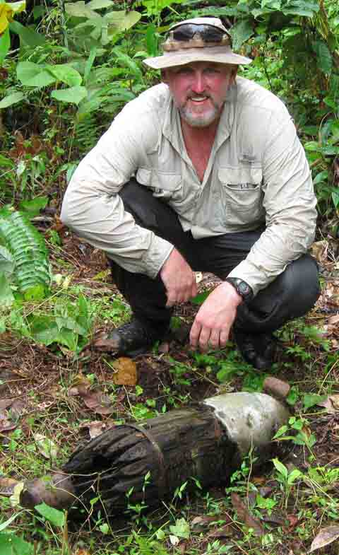 Japanese Air dropped bomb found in the jungles of Papua New Guinea.