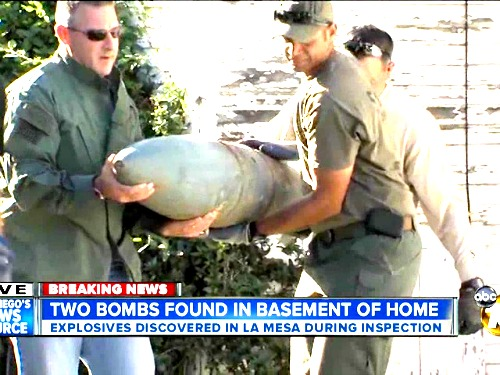 Military Ordnance found in home.